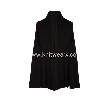 Women's Knitted Sleeveless Lightweight Back Lace Cardigan