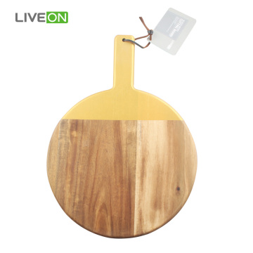 Round Acacia Wood Cutting Board