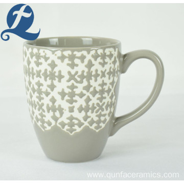 Accept custom printed wholesale price relief coffee ceramic mug