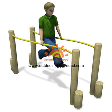 Outdoor Parallel Bars Play Structure For Kids