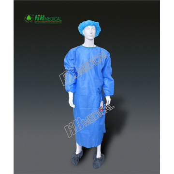 Blue Color SMS Strength Operation Cloth/Surgical Gown