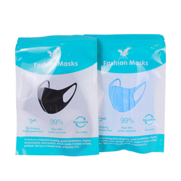1pc disposable face mask plastic bag