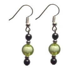 Hematite Earring With 925 Grass Silver Hook