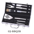 stainless steel barbecue tool set with case