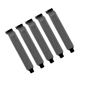 3Pc PCI Slot Cover Black Metal Punching Cooling Fan Dust Filter Dust Filter Blanking Board for Ventilation PC Computer Case