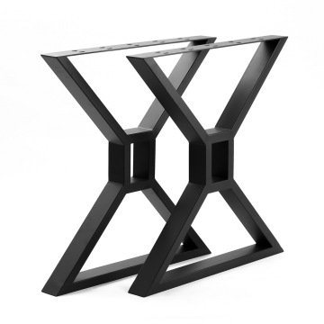 Modern Black X Shape Table Legs Bench Legs