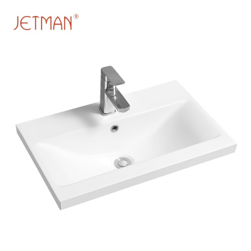 Square imported wash basin top mount vanity bathroom porcelain sinks