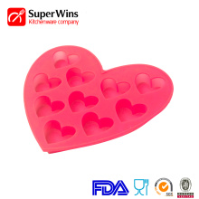 Easy-Flex Silicone Heart Candy Mold Ice Cubes