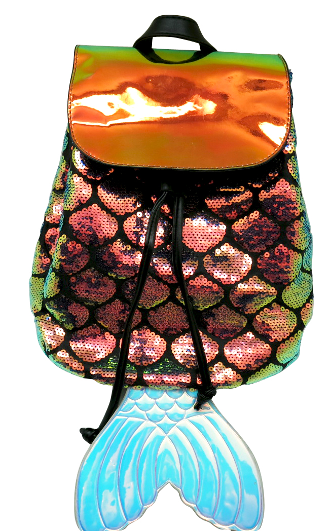 MERMAID3 LASER SEQUIN BACKPACK-0