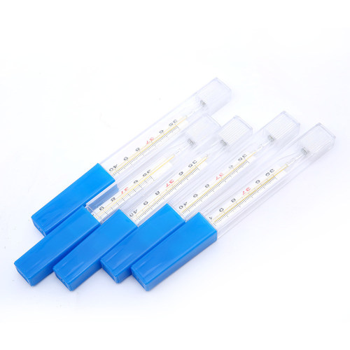 Clinical Mouth and Oral Use Glass Mercury Thermometer