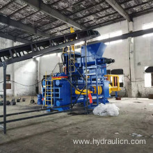 1250ton Horizontal Steel Granules Chips Briquette Press
