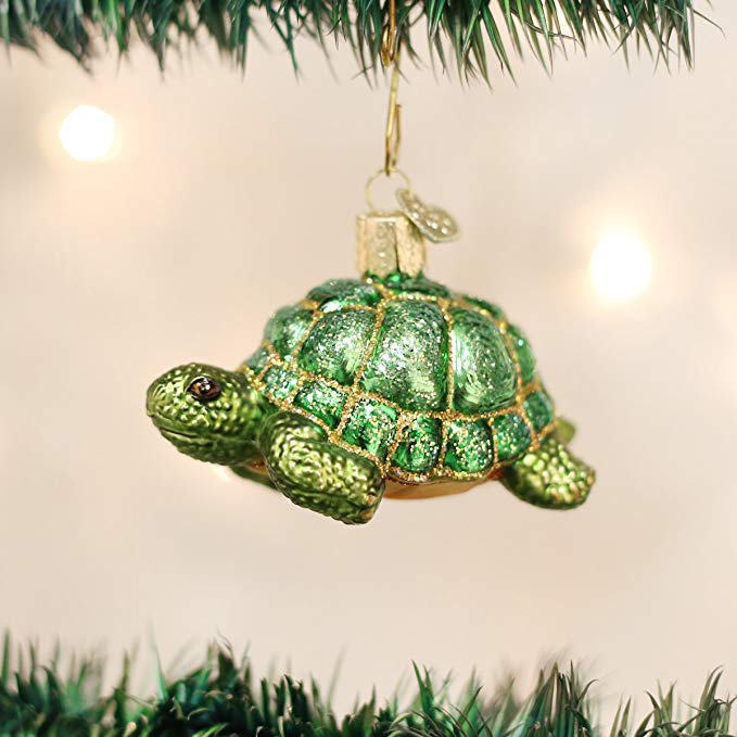Glass Tortoise Ornaments