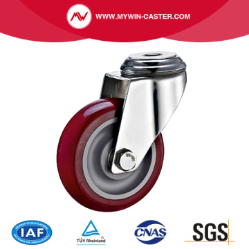 Bolt Hole Swivel PU Stainless Steel Caster