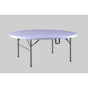 Dining round folding table with folding leg
