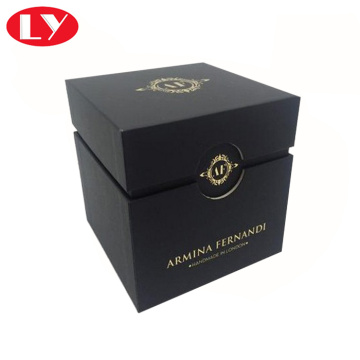High quality candle box black color with insert