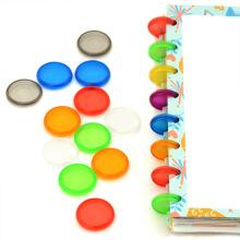 24PCS Binding Disc Buckle 18/24/28MM Candy Color Mushroom Hole Binding Disc Plastic DIY 360 Degree DIY Office Supplies