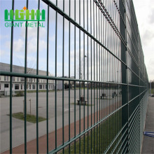 double wire mesh fence and gate