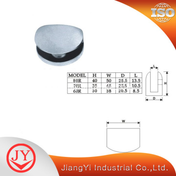 Round Shape Glass to Wall Glass Clip Hinge