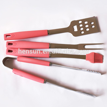 Barbecue Outdoor Grilling Kit with Silicone Handle