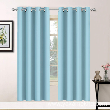 Sky Blue Blackout Curtains 63 Inch Long