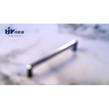 HJY chrome cabinet pulls 128mm  mirror door pull handle