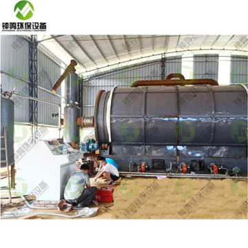 Working of Portable Pyrolysis Plant China