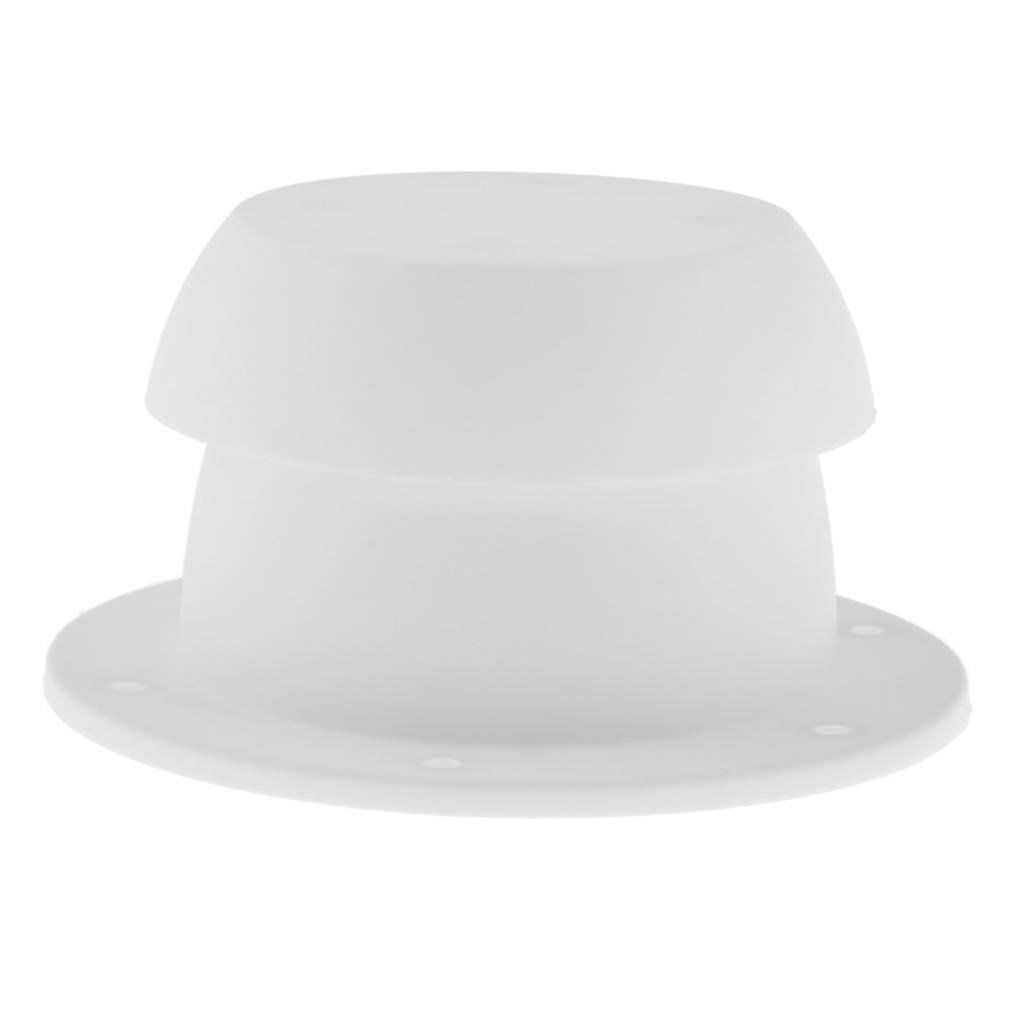 Mushroom Head White RV Motorhome Round Exhaust Outlet Vent Cap Replacement