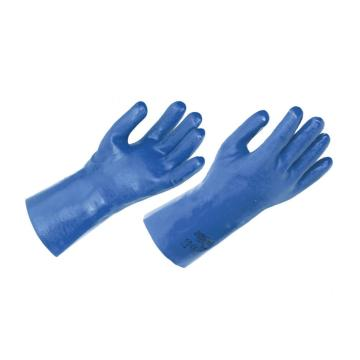 Cotton lined pvc coated gloves 12inch