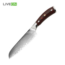 Military Grade G10 Handle 5'' Knife Santoku Knife