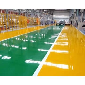 High hardness color epoxy floor coating