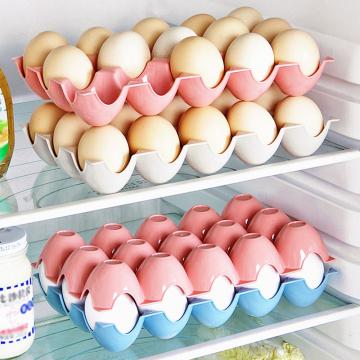 1 pcs Kitchen Egg Storage Box Refrigerator Egg Storage Rack And Shelf Household applies Storage Organization Kitchen accessories