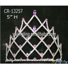 Wholesale Purple Rhinestone Pageant Crowns