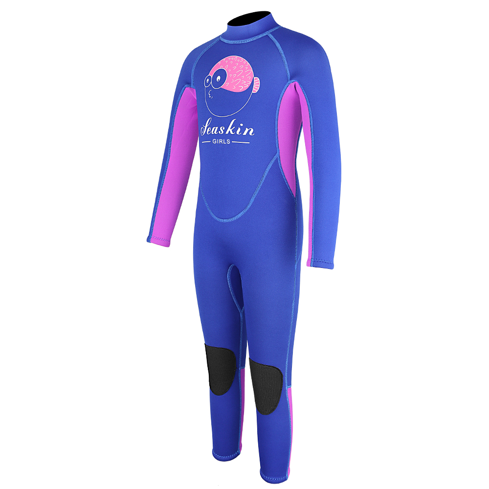 Seaskin Girls Back Zip Wetsuit