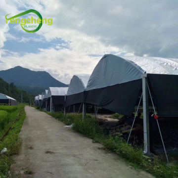 Black white plastic film greenhouse cover