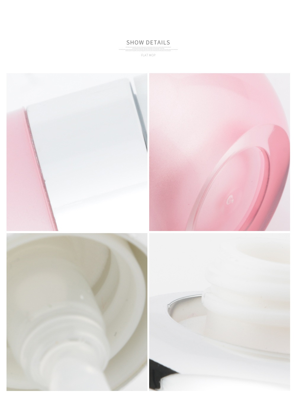 Pink acrylic round cosmetic Bottle with SILVER caps