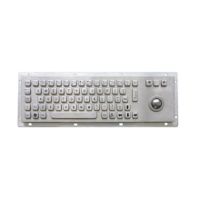 Industrial Metal Keyboard with Trackball for Kiosk