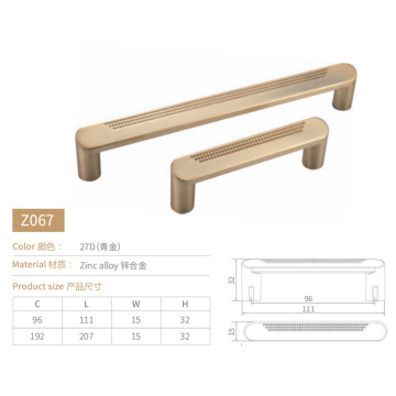 HJY modern Metal Drawer Pull furniture hardware gold cabinet pulls 96mm