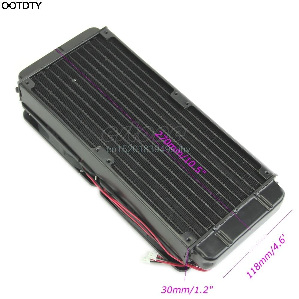 NEW Computer Accessories 1pc 240mm Aluminum Computer Radiator Water Cooling Cooler 2 Fans For CPU Heatsink #L059# new hot