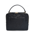 Embossed Genuine Leather Tote Bags With Top Handle