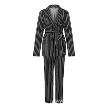 Bespoke business striped woman suits