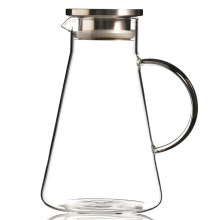 Customized Logo Pyrex Glass Water Jug 2 Litre Glass Carafe With Lid