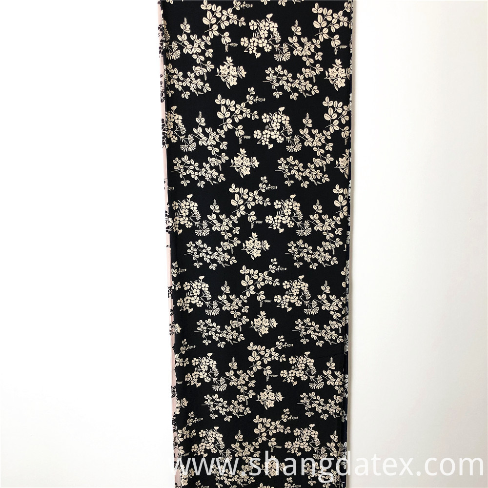 Black And White Rayon Printed
