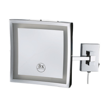 Hotel Metal Wall Mounted LED Makeup Mirror Bathroom