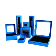 Hinged Lid Rigid Shoulder Blue Color Box