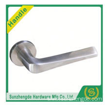 SZD STLH-004 Hot Brand Quality On Rose Stainless Steel Curved Lever Door Handle
