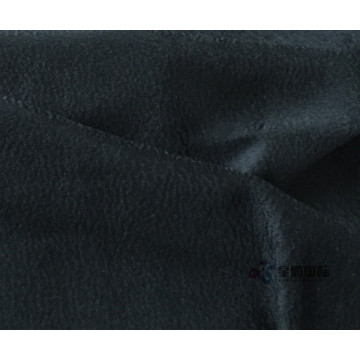 Black Wool Alpaca Blend Fabric For Winter's Coat