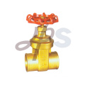 Brass solder gate valves