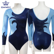 Custom Angkatan Laut Biru Gymnastics Leotards