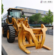 Wood Grapple Log Wheel Loader