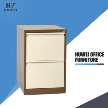 Two drawers steel key drawer cabinet